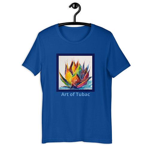 Short-Sleeve Unisex T-Shirt, Rainbow Agave, by Roberta Rogers
