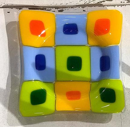 Square Multi Colored Coaster