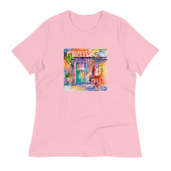 Women's Relaxed T-Shirt, Mexican Door by Roberta Rogers