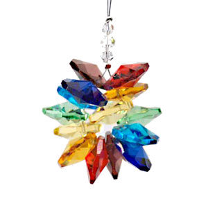 Crystal with Rainbow Cluster