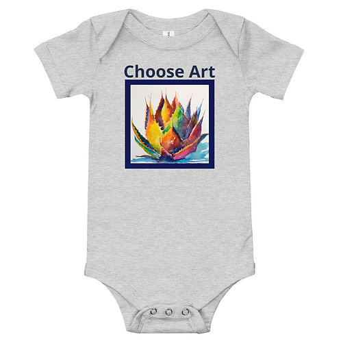 Baby Body Suit Bold Agave by Roberta Rogers