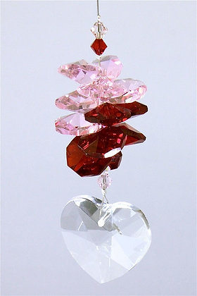 Crystal Heart Suncatcher