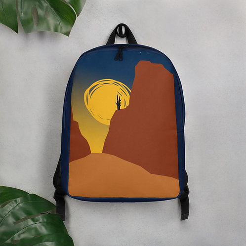 Minimalist Backpack, Red Cliffs by Jen Prill