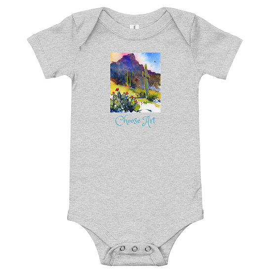 Baby Body Suit Tubac Hills by Roberta Rogers
