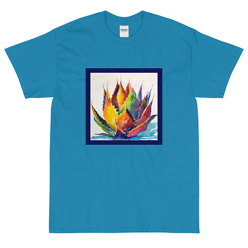 Men's Short Sleeve T-Shirt, Rainbow Agave, by Roberta Rogers