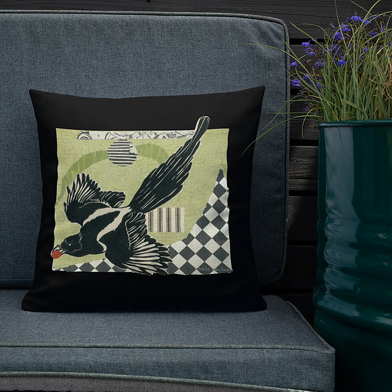 Premium Pillow, Another Raven, by Ouida Touchon