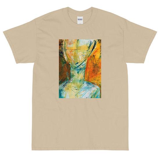 Men's Short Sleeve T-Shirt, Face Me by Jen Prill