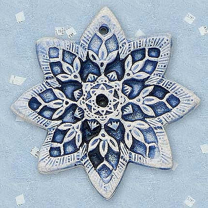 Crackled Snow Flower