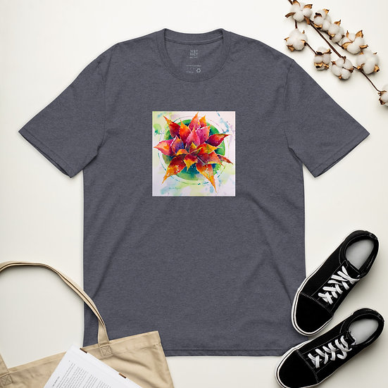 Unisex recycled t-shirt designed by Roberta Rogers