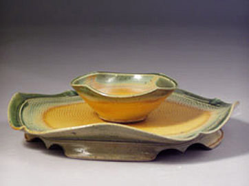 Hors D'oeuvre Tray, green/yellow