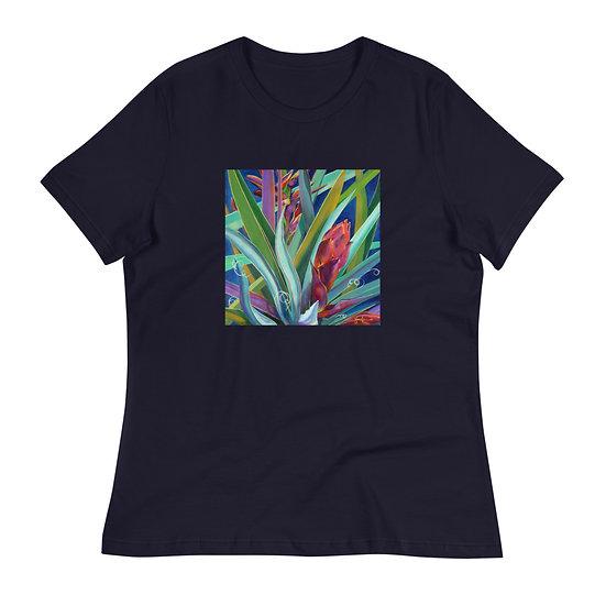 Women's Relaxed T-Shirt, Banana Yucca, by Jacci Weller