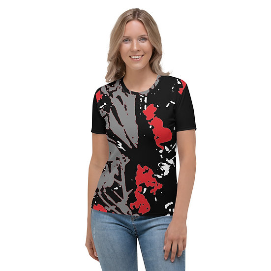 Black and red abstract design by Tubac artist