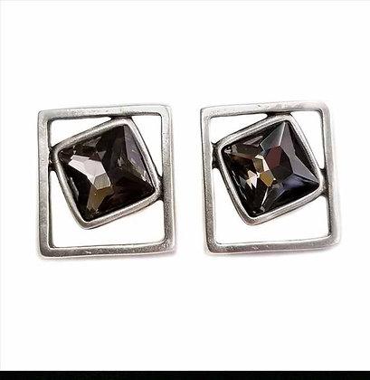 Pewter Smokey Quarts Drop Earrings