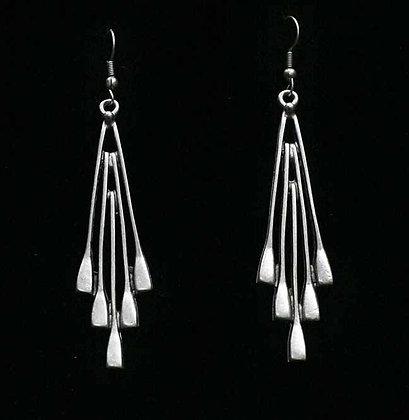 Pewter Dangling Spoons Earrings