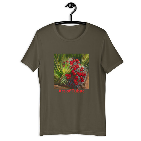 Short-Sleeve Unisex T-Shirt, Prickly Pear, by Jacci Weller