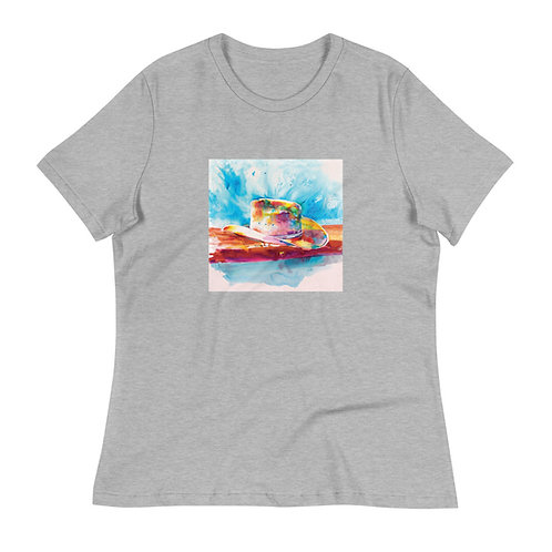 Women's Relaxed T-Shirt, Cowboy Hat, by Roberta Rogers
