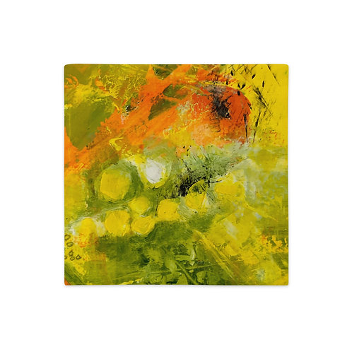 Premium Pillow Case, Abstract in Orange, By Jen Prill