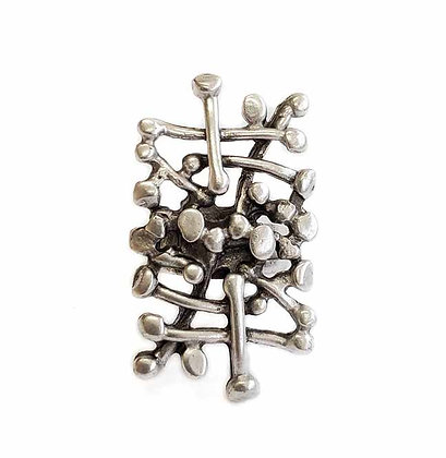 Pewter Abstract Ring