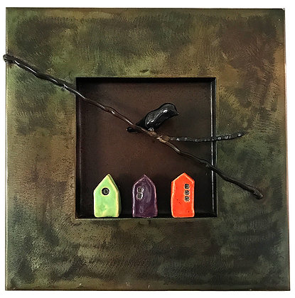 Three Houses and a Bird