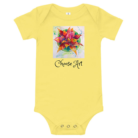 Baby Body Suit of Bold Agave bt Roberta Rogers
