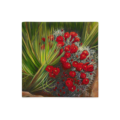 Premium Pillow Case, Prickly Pear, by Jacci Weller
