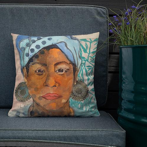 Premium Pillow, Still I Rise, by Ouida Touchon