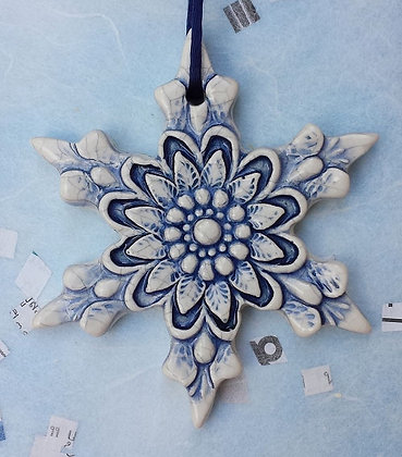 Crackled Snowflake