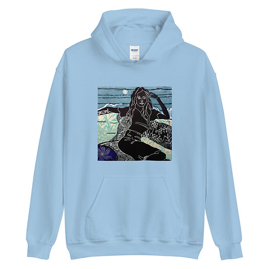 Unisex Hoodie, Reclining, by Ouida Touchon