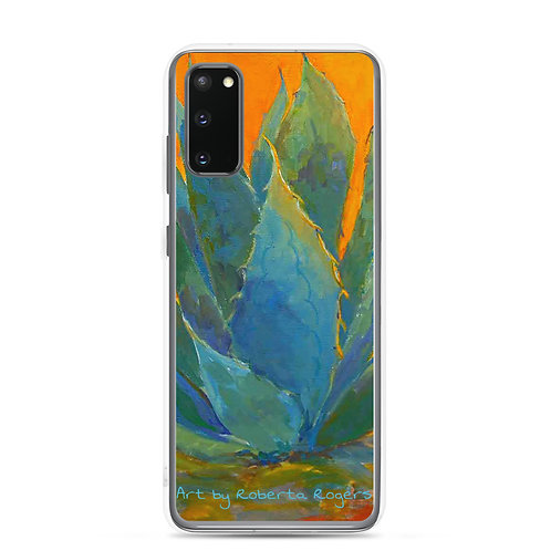 Samsung Case Blue Agave by Tubac artist, Roberta Rogers