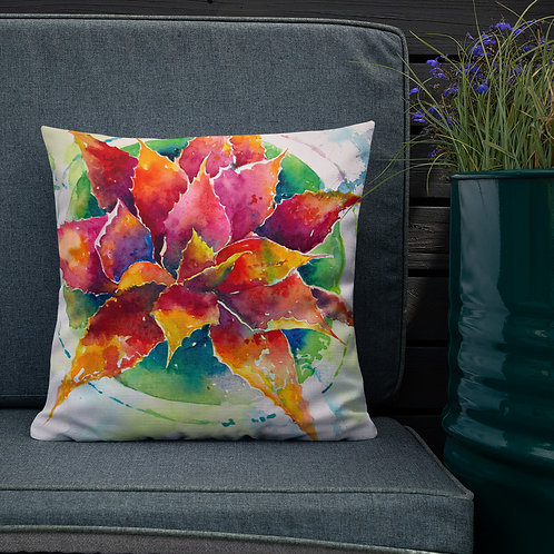 Premium Pillow, Rainbow Agave by Roberta Rogers