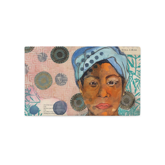 12x20 Premium Pillow Case, Still I Rise (oblong) by Ouida Touchon