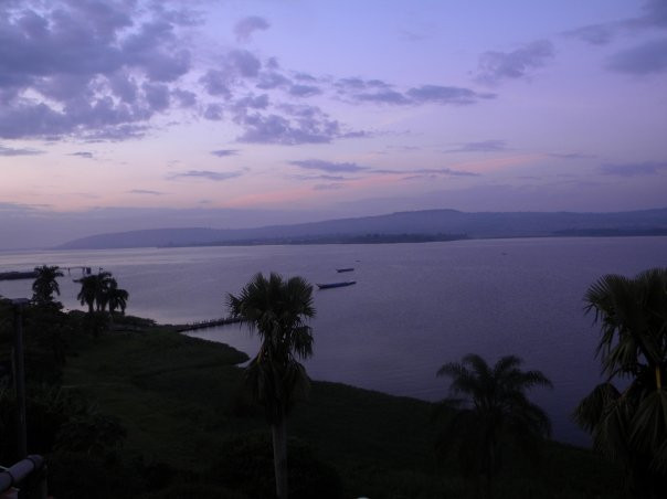 Dawn in Jinja overlooking the Nile