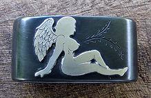 saddle horn knot, angel, saddle, western art, western, handmade