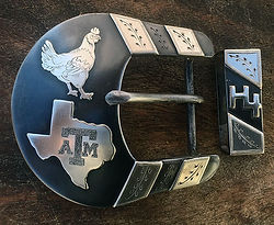 chicken belt buckle, state of Texas, Western belt buckle, handmade belt buckle