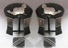 trucker girl, handmade headstall buckle, handmade spur strap buckle