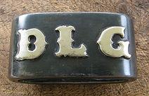 initials, horn knot, hanmade saddle horn knot, western, western art, handmade, saddleware
