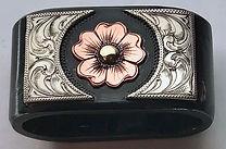 saddle horn knot, horn knot, handame, custom, flower