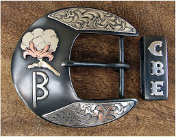 cotton, cotton boll, western belt buckle, handmade belt buckle