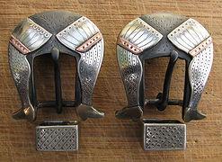 handmade western western spur strap headstall buckles