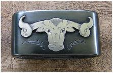 saddle horn knot, steer head, western