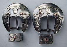 steer head buckle, headstall buckles, spur strap buckles, custom western buckle