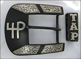 cattle brand, handmade western belt buckle, custom buckles