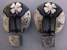 4 leaf clover, custom buckle, handmade western buckle