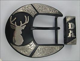 Deer buckle, western buckle, trophy buckle