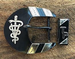 Veterinary caduceus, vetrinarian, vet, handmade western belt buckle, handmade belt buckle, custom belt buckle