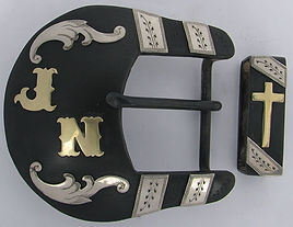 Texas wheqta, western belt buckle, hadmade belt buckle, western artist