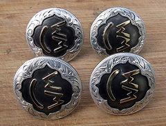 Saddle conchos, western concho, handmade conchos, custom made conchos