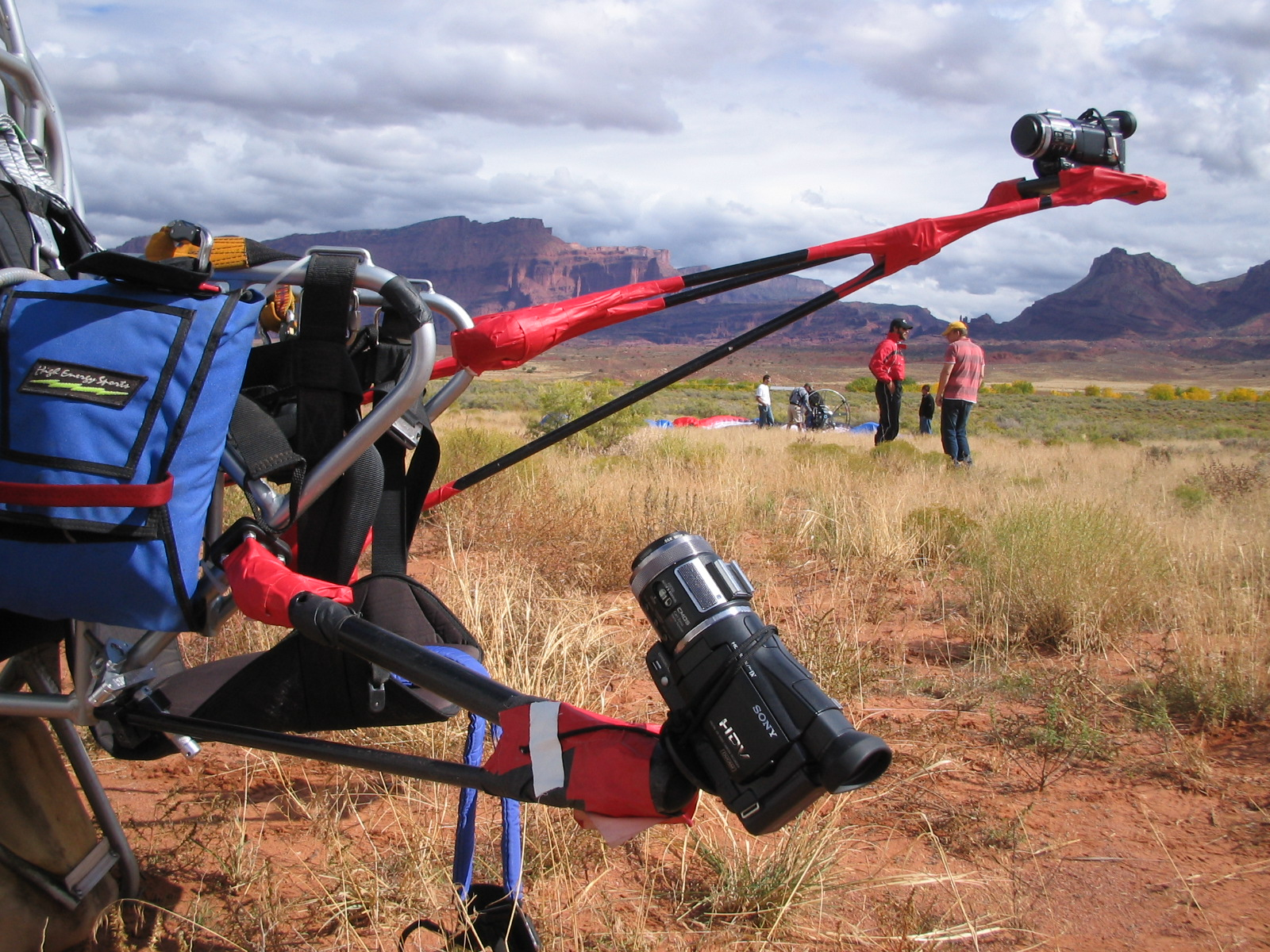 Powered Paragliding - frame mount