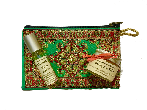 Headache Balm RollOn & Lip Balm Purse Set
