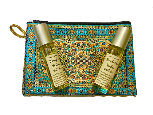 Headache Balm rollOn & Temple Balm RollOn Purse Set